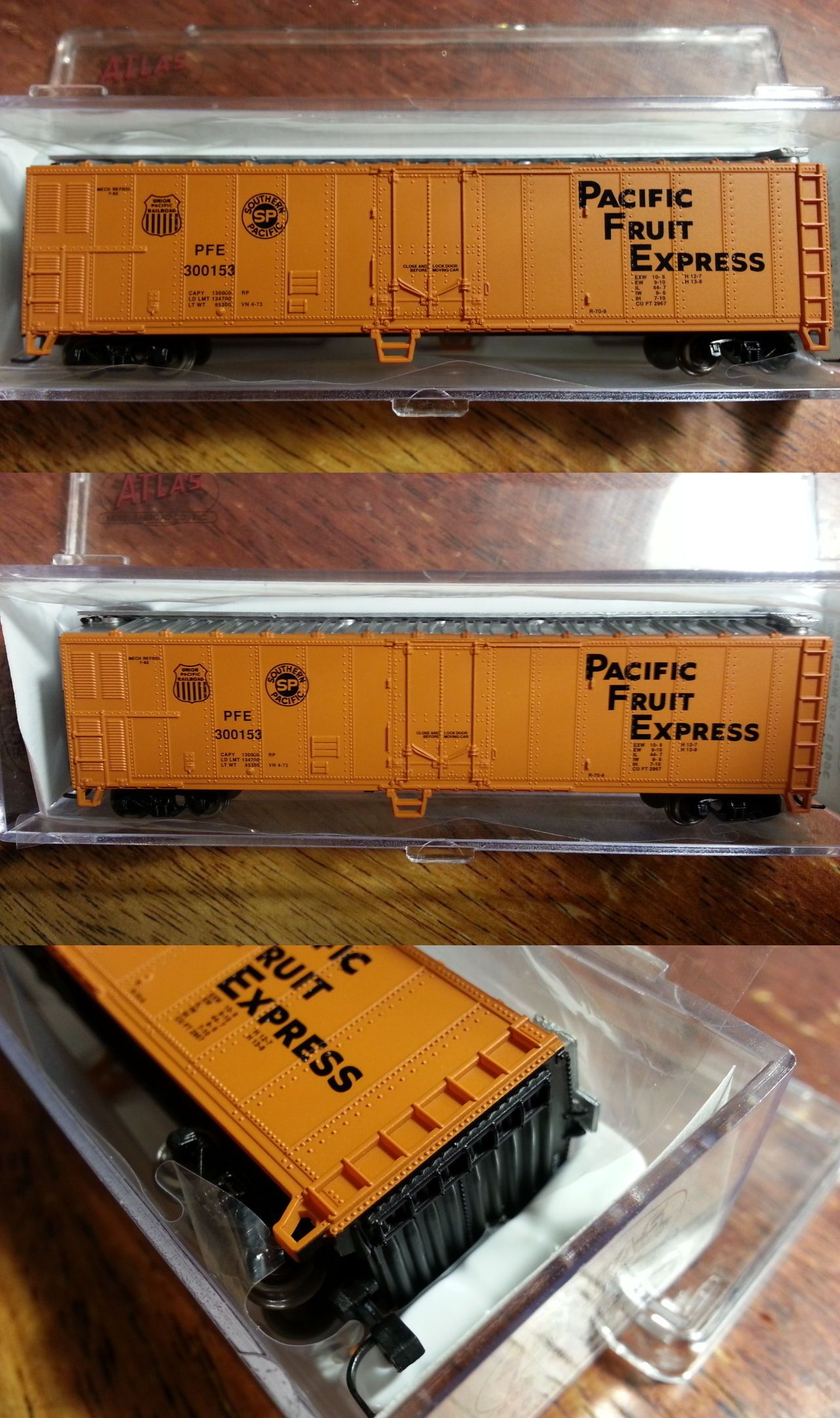 N Scale 19119 Atlas 36615 Pfe Up Sp Pacific Fruit Express