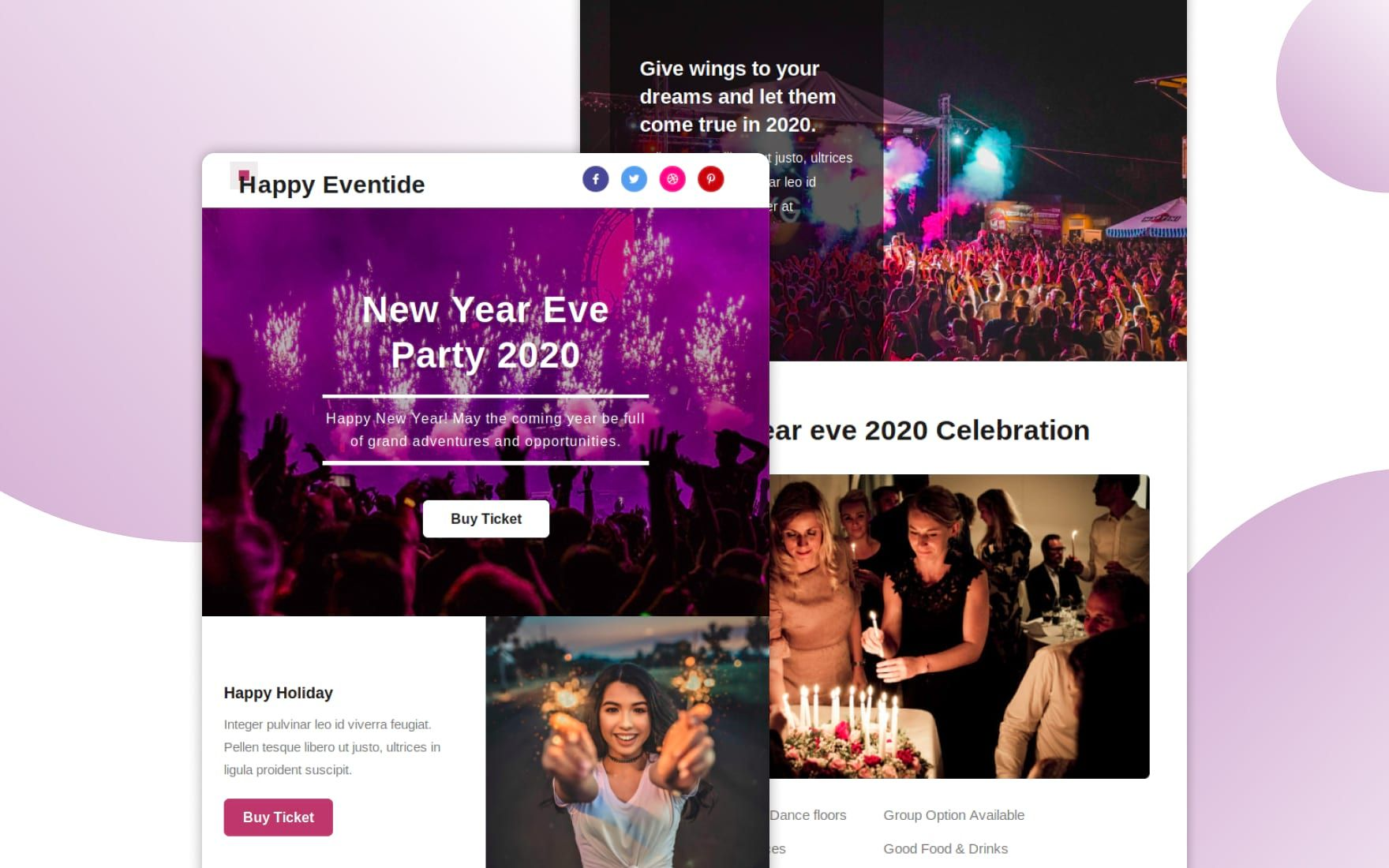 Happy Eventide Responsive Email Template Responsive Email Template Email Templates Responsive Email