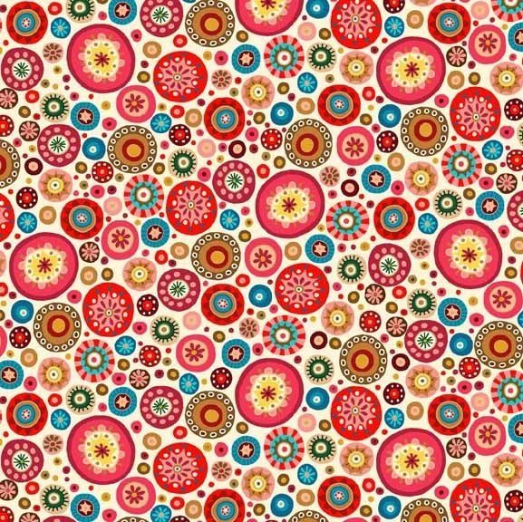 Makower Uk Aurelia Circles | Sew cool fabrics