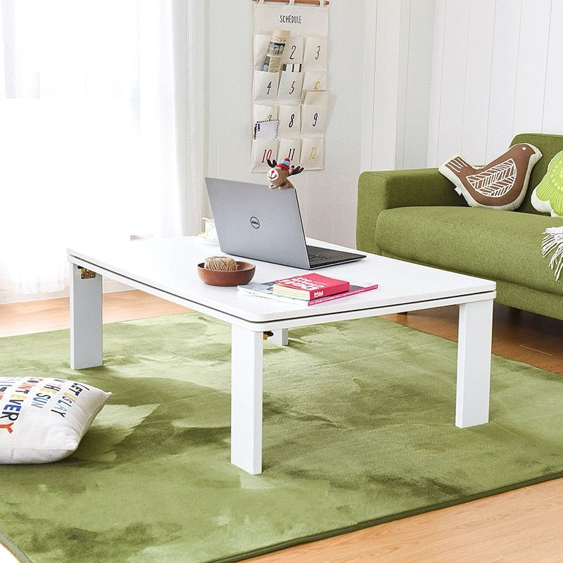 Folding Kotatsu Table Top Reversible White/Yellow Japanese ...
