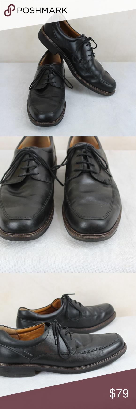 Ecco Holton Apron Toe Tie Black Leather