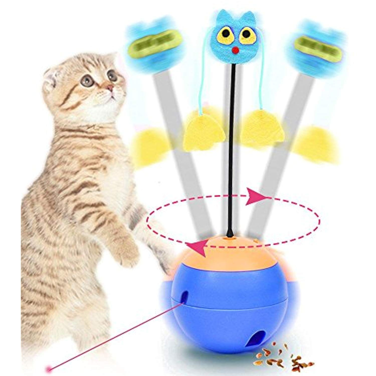 Foonee Interactive Cat Toys 3 In 1 Multi Function Automatic Spinning Electric Rotating Ball Tumbler Healthy Out Pets Gif Interactive Cat Toys Cat Toys Pet Gift