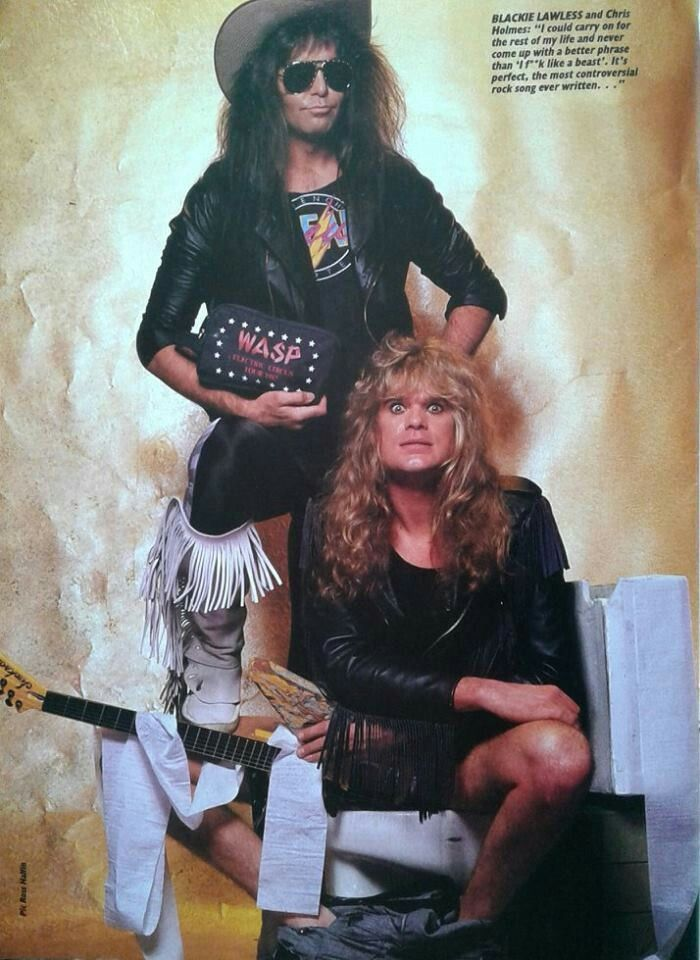 Blackie Lawless of and Chris Holmes back in W.A.S.P. #BlackieLawless #ChrisHolmes #wasp