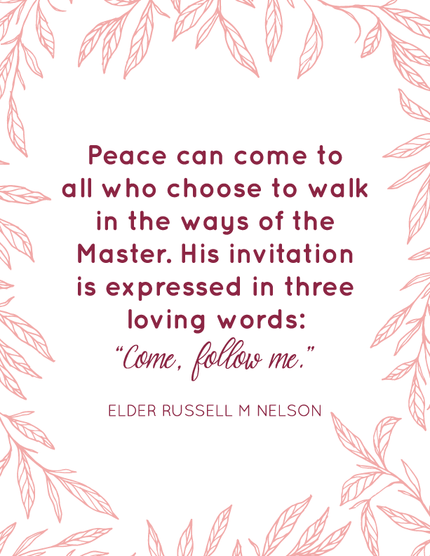 Peace In Christ 2018 Lds Youth Mutual Yw Theme Bundle Printables