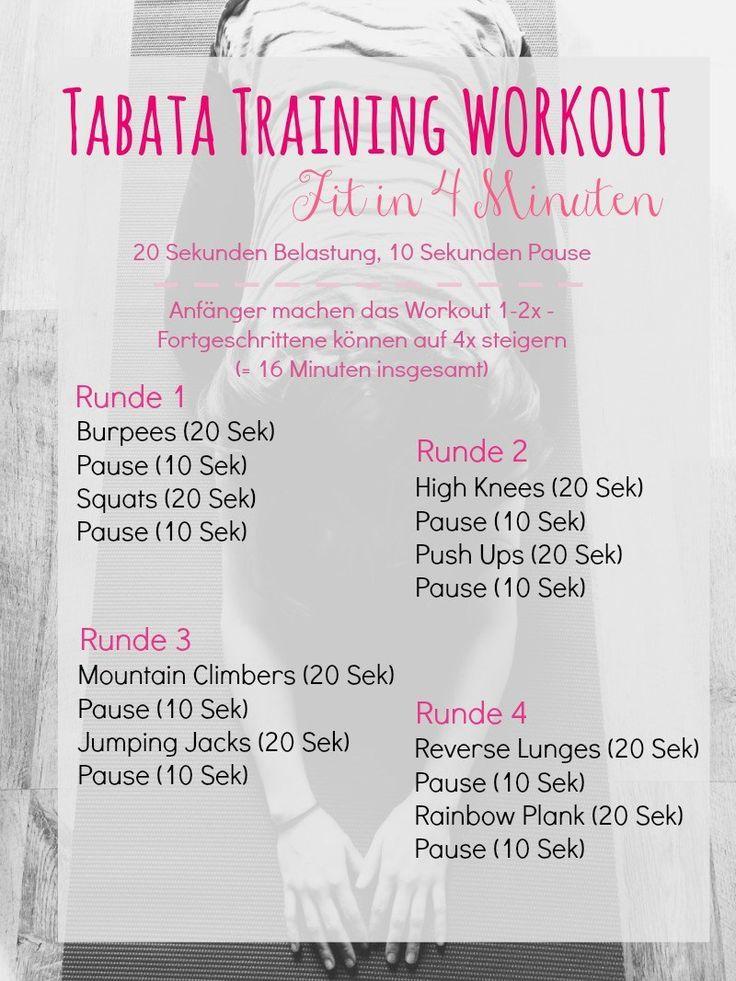 Tabata Training - Verbrenne Fett in 4 Minuten   - Fitness - #Fett #Fitness #Minuten #Tabata #Trainin...
