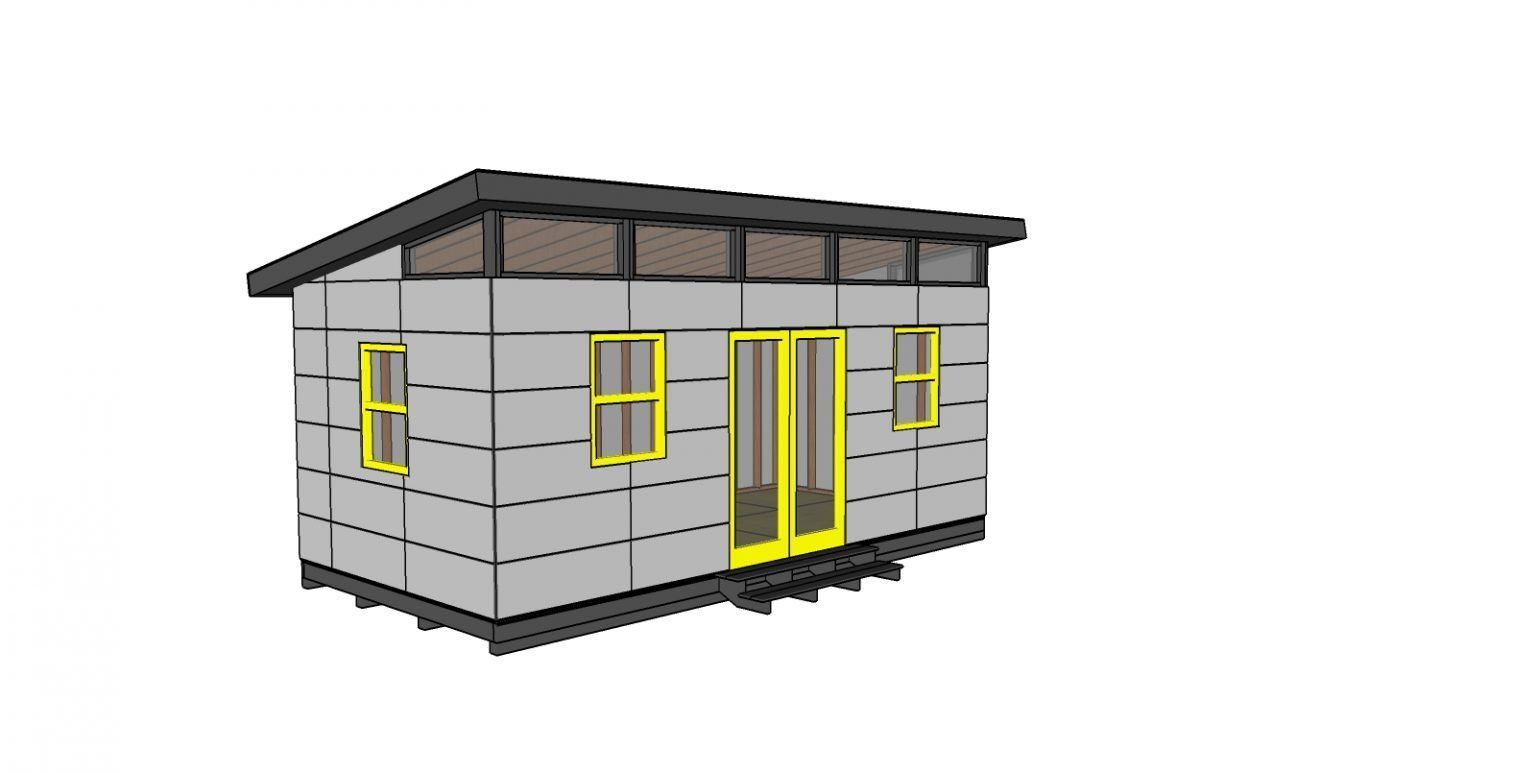 1020 Modern Office Shed Plans Free PDF Download