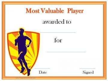 most valuable player jeff pinterest online certificate maker