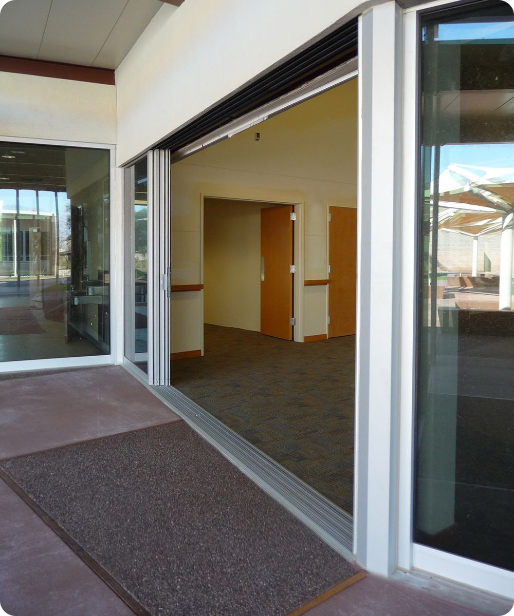 sliding doorsDeath Valley Visitor Center Sliding Doors Open