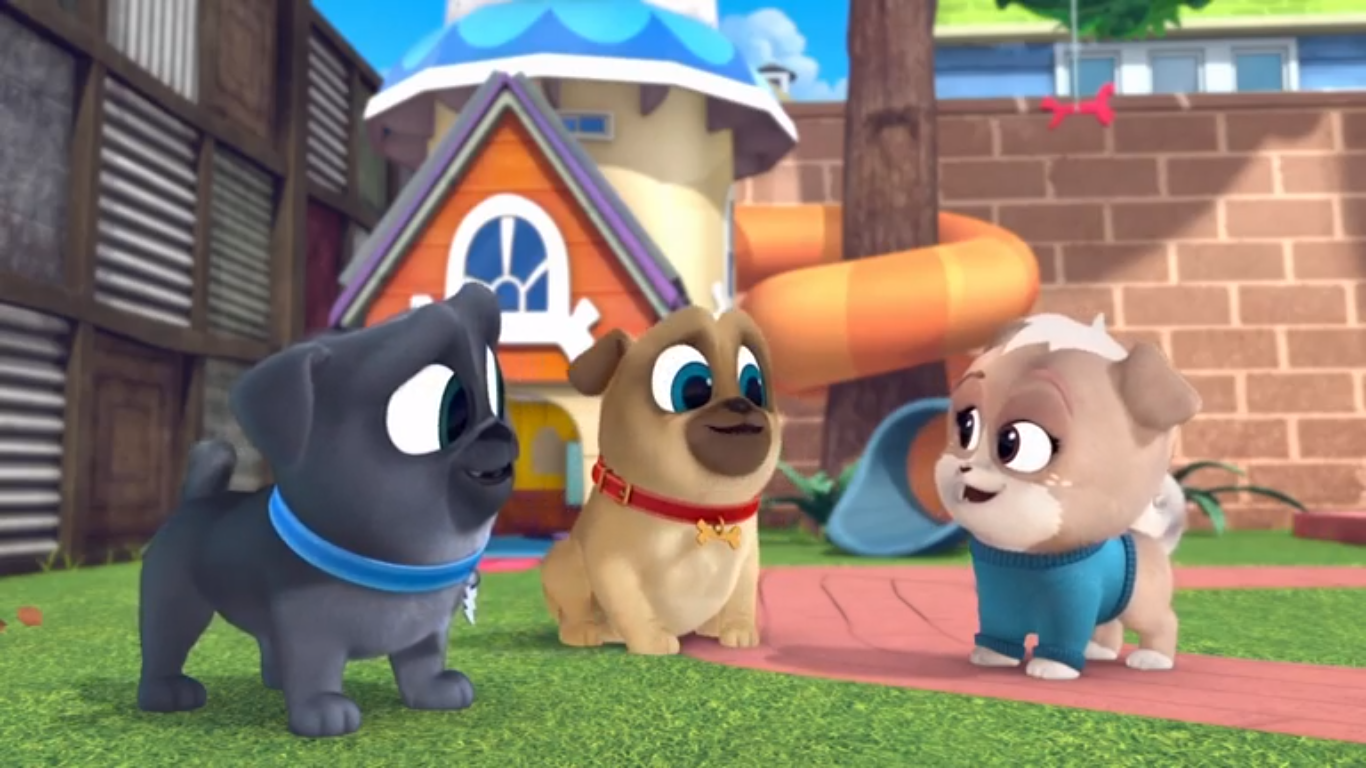 A New Pup In Town Puppy Dog Pals Wiki Fandom Puppy Pool Real Dog Dogs And Puppies [ 768 x 1366 Pixel ]