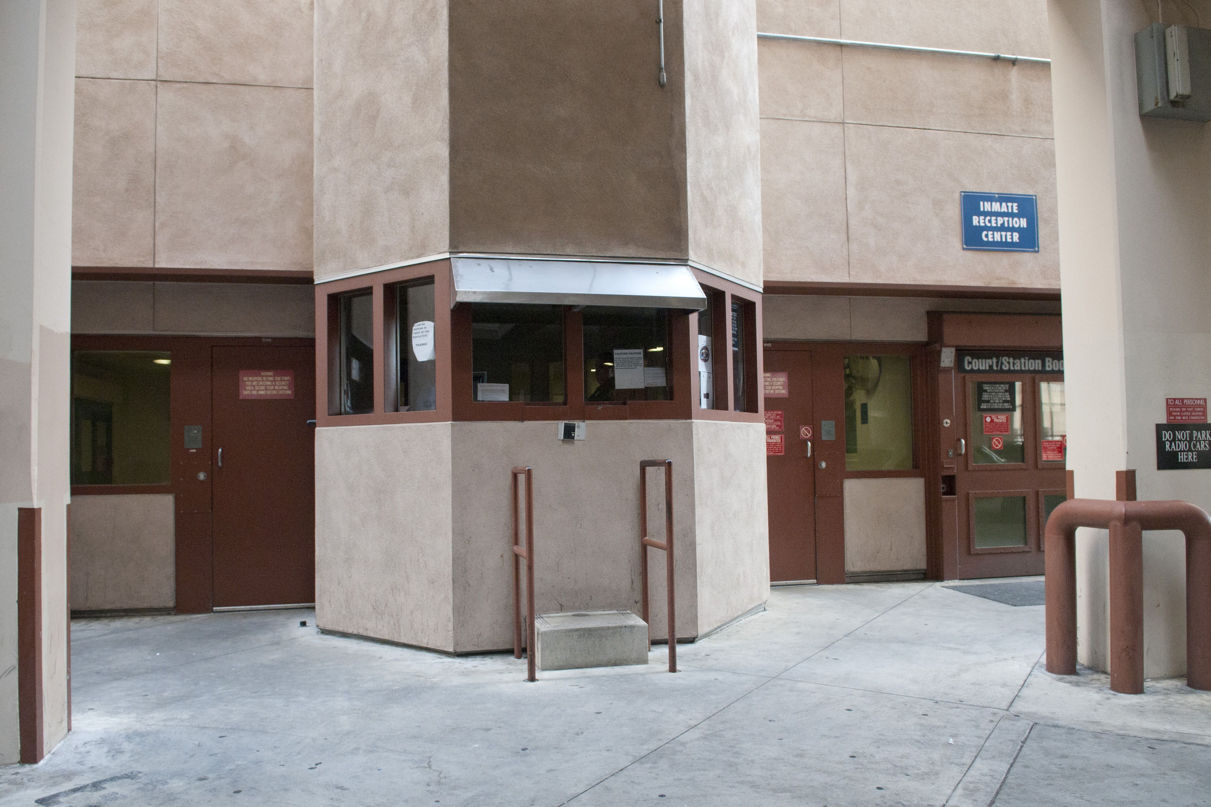 Inmate entrance at inmate reception center irc la county jails