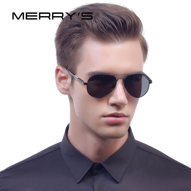 0262743ef950 MERRY S HD Aluminum Magnesium Polarized Sunglasses Men Driving Classic  Brand Designer Pilot Sun Glasses For Mens