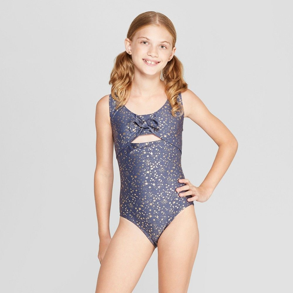 40d0f2de791b1 Girls  Written In The Stars One Piece Swimsuit - art class Navy S ...