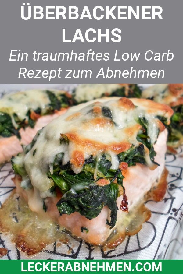 Photo of Baked salmon with spinach and mozzarella