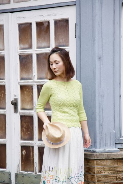 new from gudrun johnston, seamless lace knit in shibui cima. so pretty for spring!