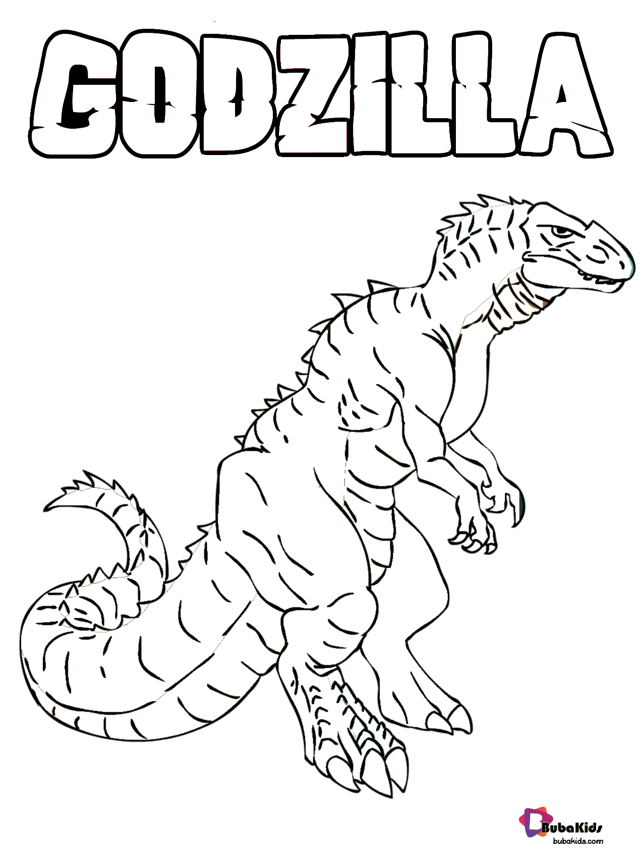 Godzilla King Of The Monsters Coloring Page Godzilla Monster Godzilla Monster Cartoon Colo Monster Coloring Pages Coloring Pages Cartoon Coloring Pages