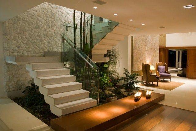 Jardim Interno Hallway Pinterest Escalera, Casas y Interiores - escaleras modernas