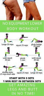Exercice du bas du corps Aucun équipement requis   - Fitness - #aucun #bas #corps #EQUIPEMENT #exerc...
