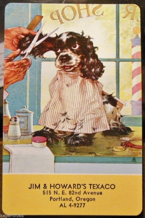 Butch the Dog Get Trim-Staehle-Jim & Howard Texaco, Oregon-VTG Swap Playing…
