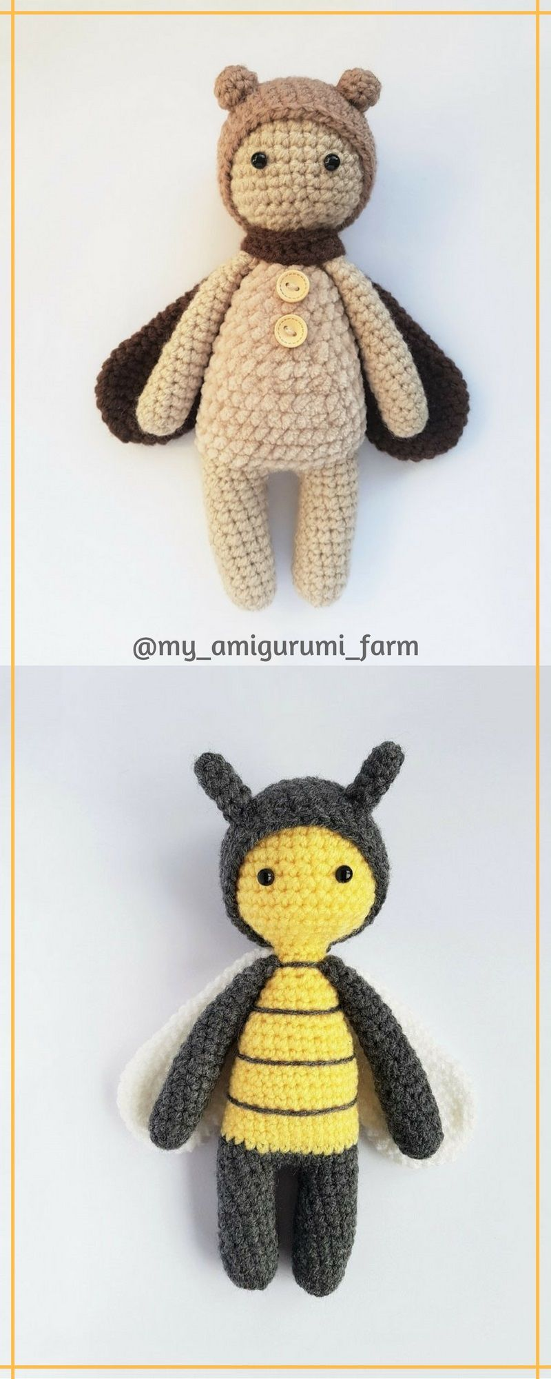 Cute crochet animals, amigurumi patterns | amigurumis | Pinterest