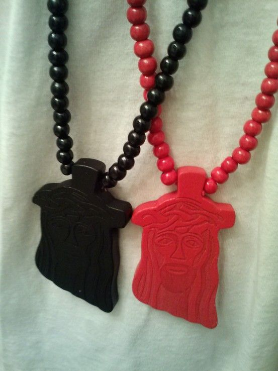 Redblack Jesus Piece Wood Necklace Oh Thats Fancy Mens Wood