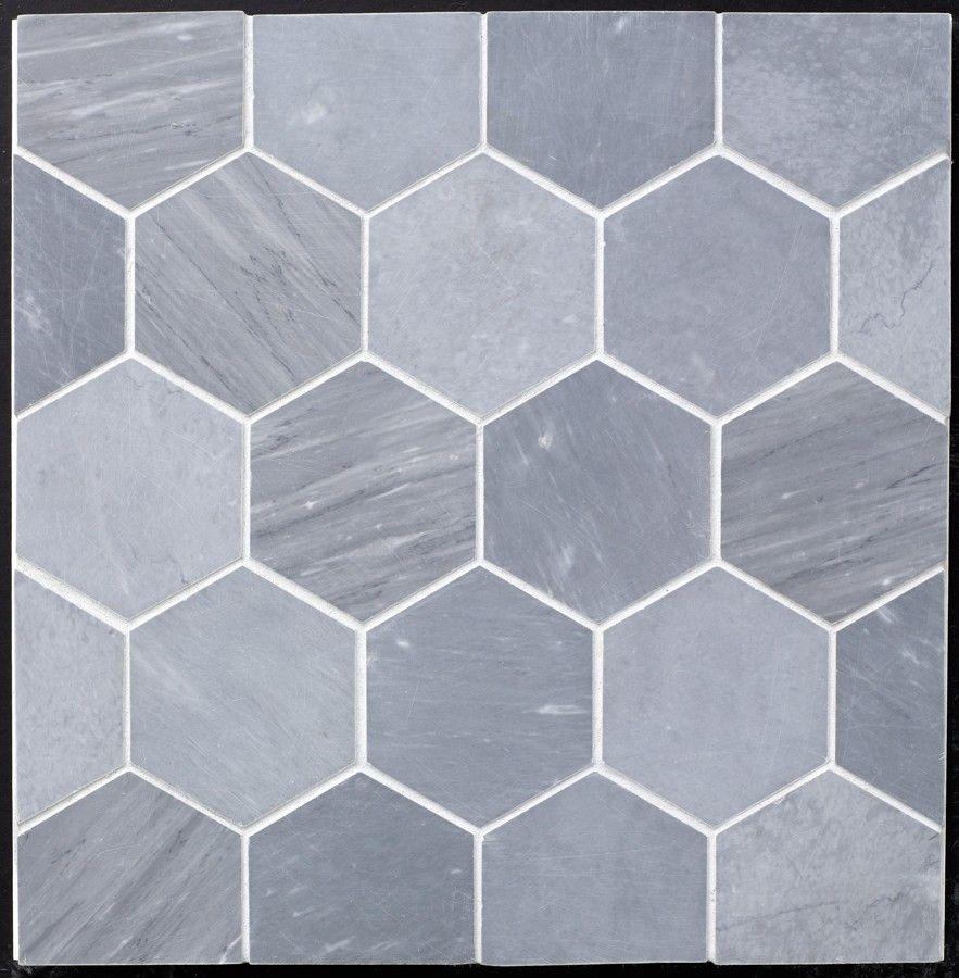 Grey Bardiglio Marble Hexagon 4 Quot Honed In 2019 Hexagon