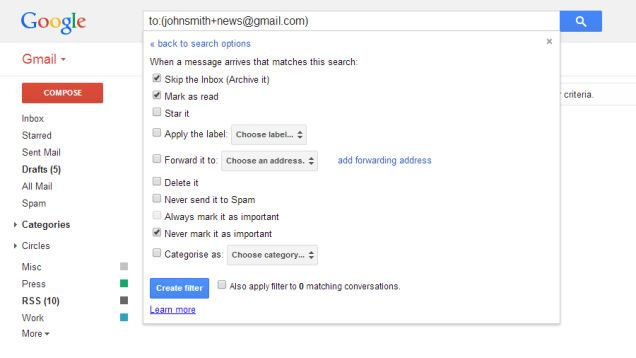 How to Use the Infinite Number of Email Addresses Gmail