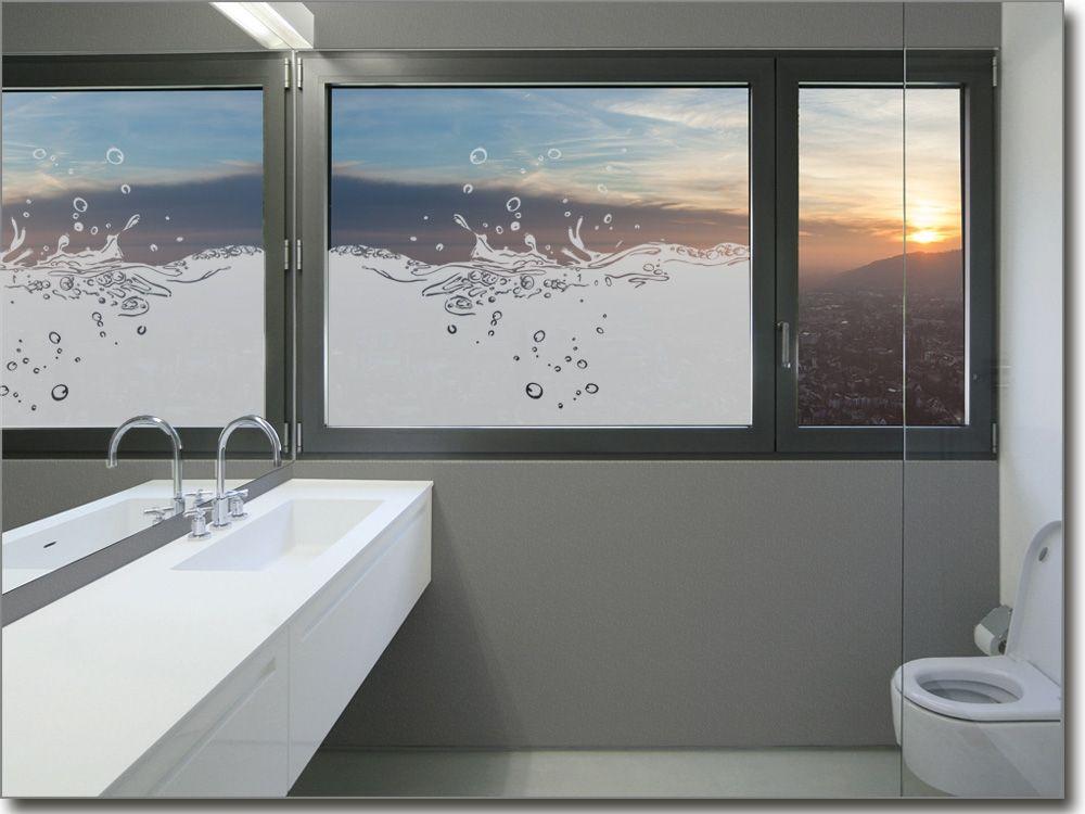 Milchglasfolie Badezimmer ~ Sichtschutzfolie mit wasserspritzern für glasflächen