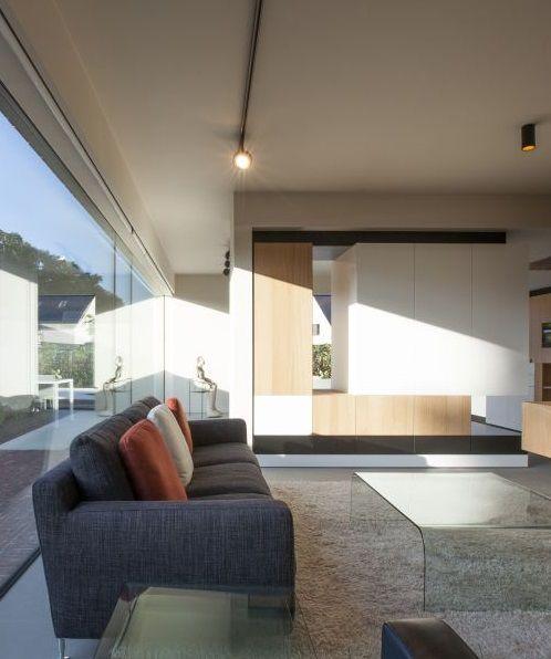 Woonkamer • nieuwbouw • modern • design • onzichtbaar profiel ...