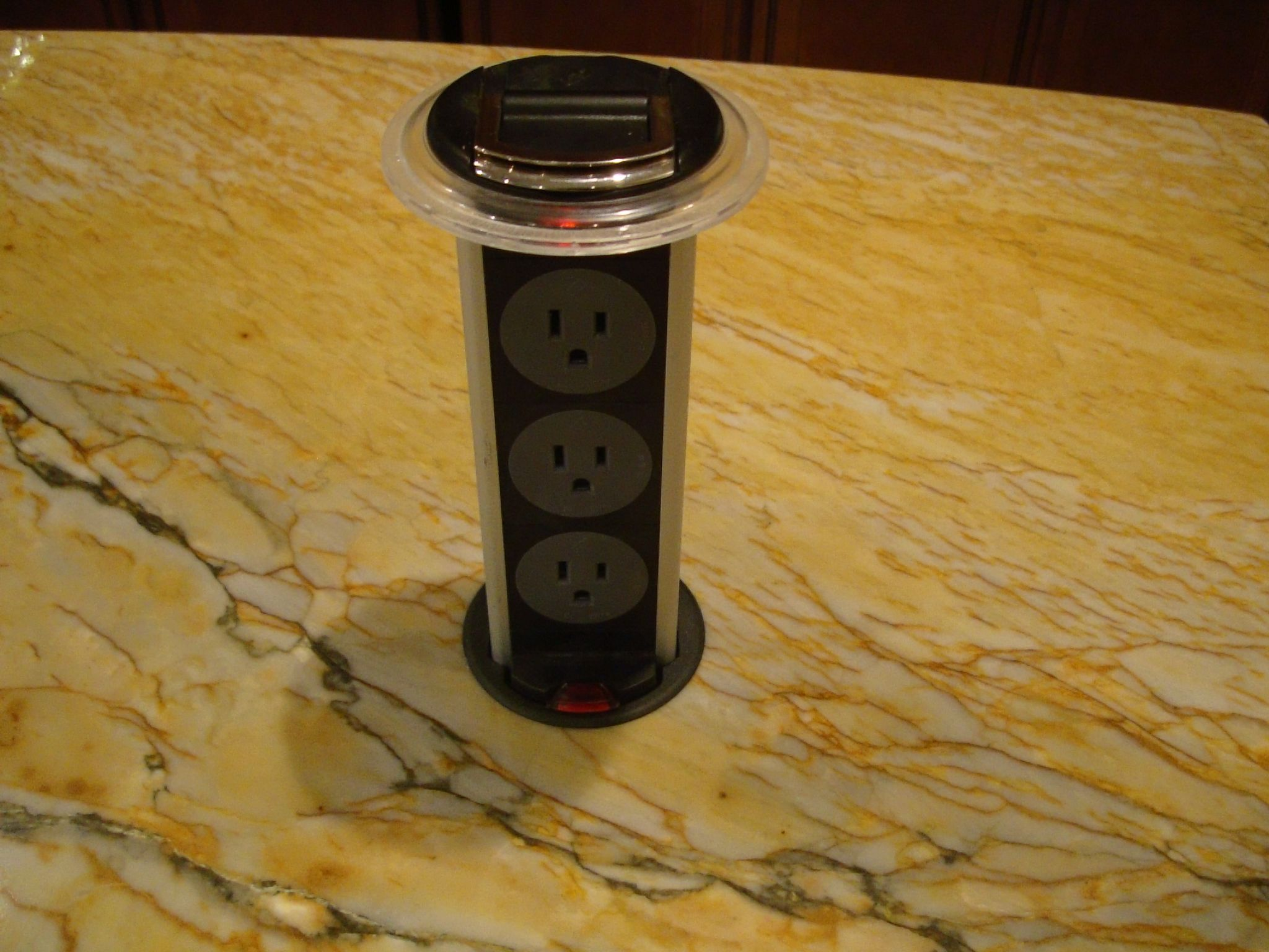 pop up outlets for kitchen antique tables handy little electrical outlet i installed in a