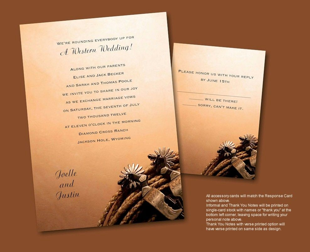 western wedding invitations wedding invitations western wedding invitation 1263
