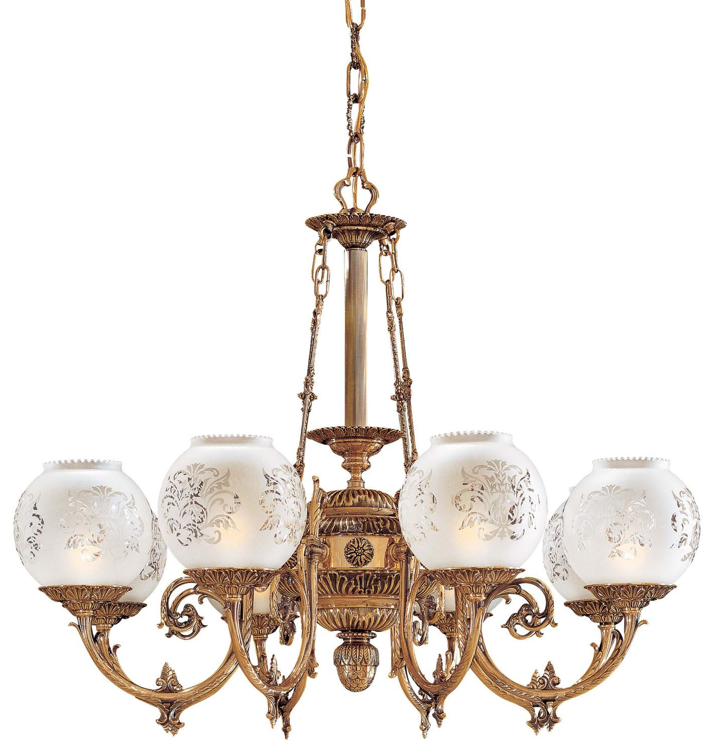 Eight light chandelier antique brass finish etched glass make a eight light chandelier antique brass finish etched glass make a statement victorian style mozeypictures Image collections