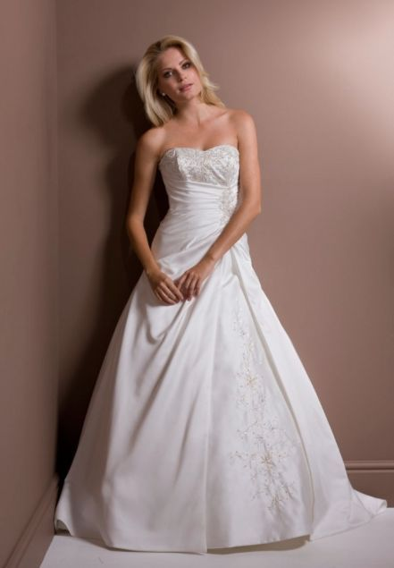 Romantica Bridget Brand New A Line Strapless Beaded Wedding Dress