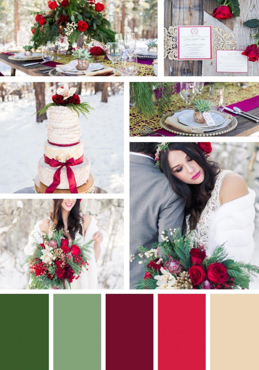 Christmas Wedding Colors.Pin On Wedding Themes