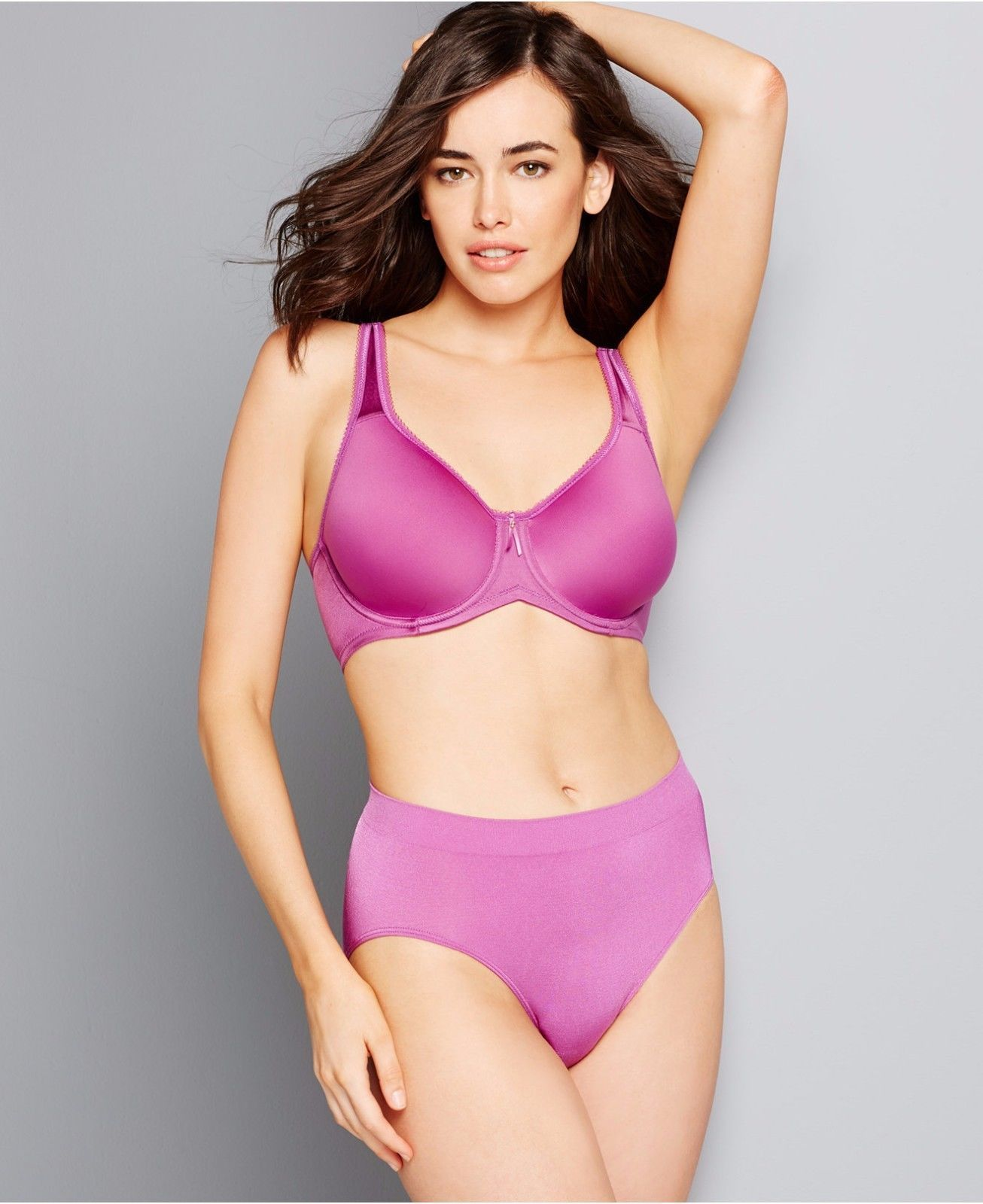 5a083c02ae1 Wacoal 853192 Basic Beauty Spacer Underwire T-Shirt Bra + Panty Hyacinth  Val  70