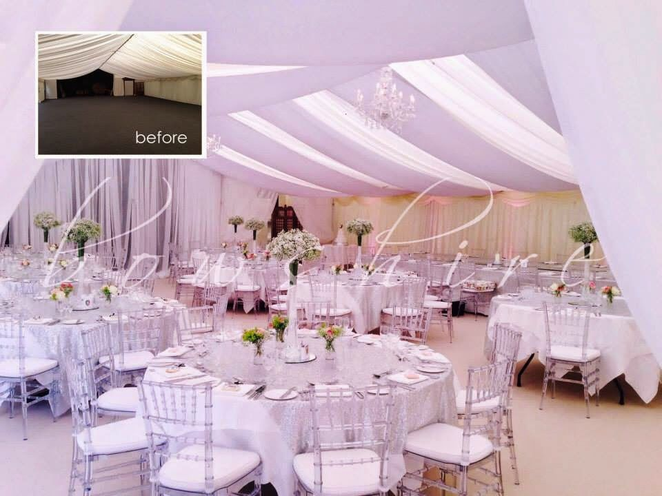 Bows Hire Setting Up For A Valentine S Day Wedding The Room