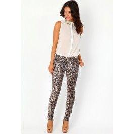 merlina leopard print skinny jeans