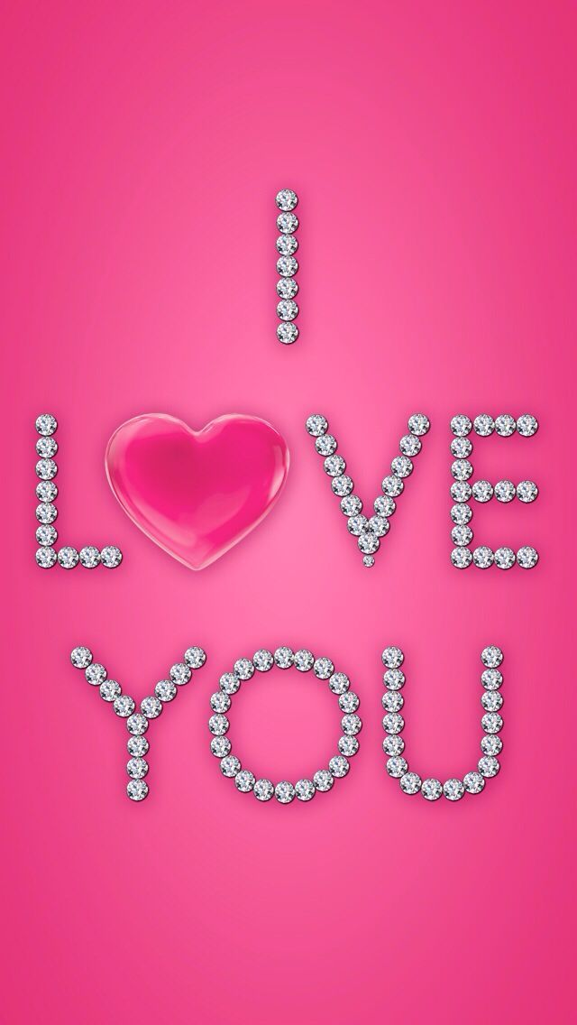 Perfectly Pink I Love You Valentine Pink Wallpaper Pink Love Valentines Wallpaper