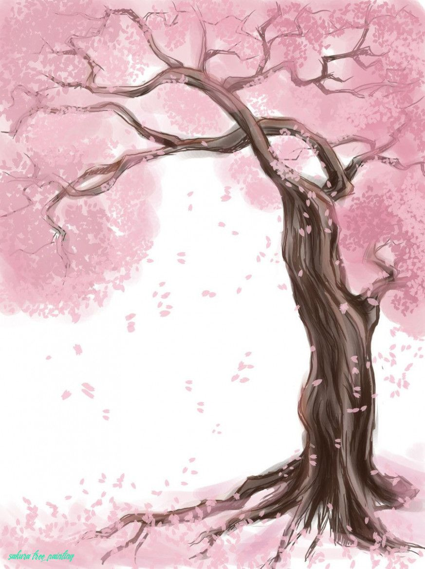 Understanding The Background Of Sakura Tree Painting Sakura Tree Painting Https Www Painterl In 2020 Cherry Blossom Painting Tree Watercolor Painting Tree Painting