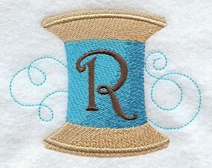 Machine Embroidery Designs at Embroidery Library! - Spool of Thread Alphabet