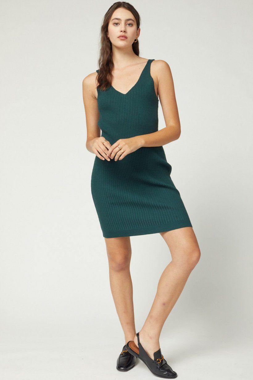 Sweater Tank Dress - Hunter Green / Large