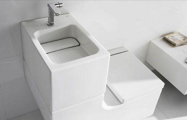 Sink Toilet Combo Reuses Waste Water From The Washbasin To Fill The Toilet Cistern Very Eco Friendly Toilet Sink Toilets And Sinks Space Saving Toilet