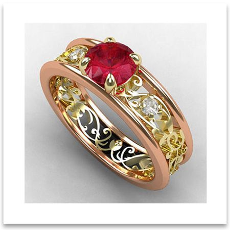 vintage wedding rings infusing old world charms in modern styles - Old Wedding Rings