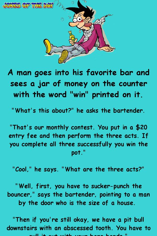 Adult bar jokes