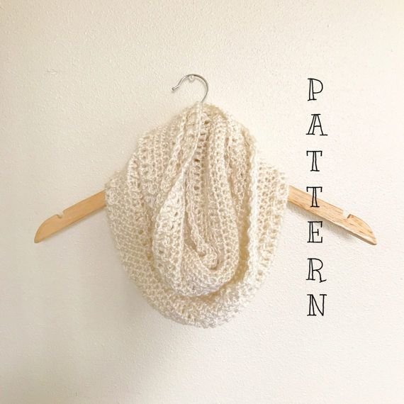 Crochet scarf pattern, Rewind infinity scarf , infinity scarf ...