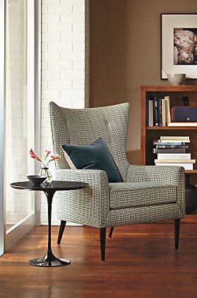 Louis Chair & Ottoman  Residential Interior Design Living Rooms Best Wing Chairs For Living Room Design Inspiration