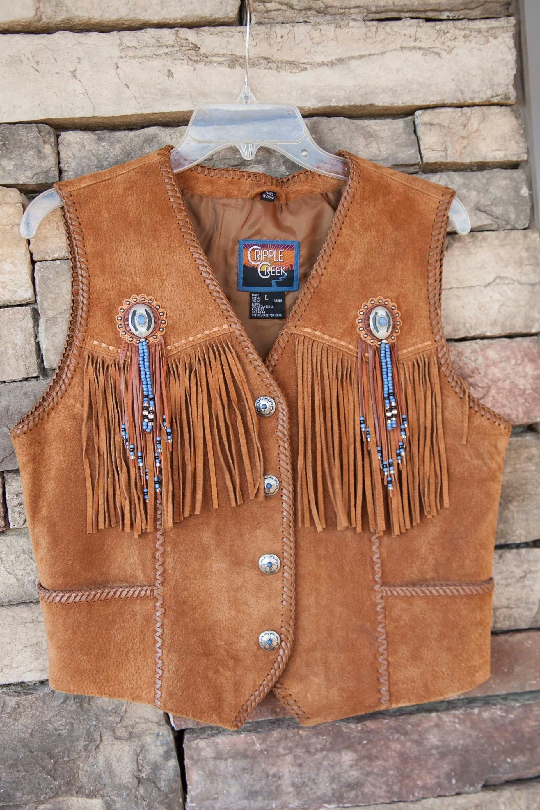 Cripple Creek Leather Beaded Fringe Vest Fringe Leather Jacket Vest Outfits For Women Western Leather [ 2784 x 1856 Pixel ]