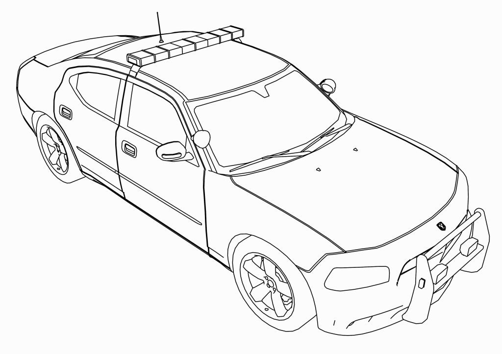 Police Car Coloring Page Coloring