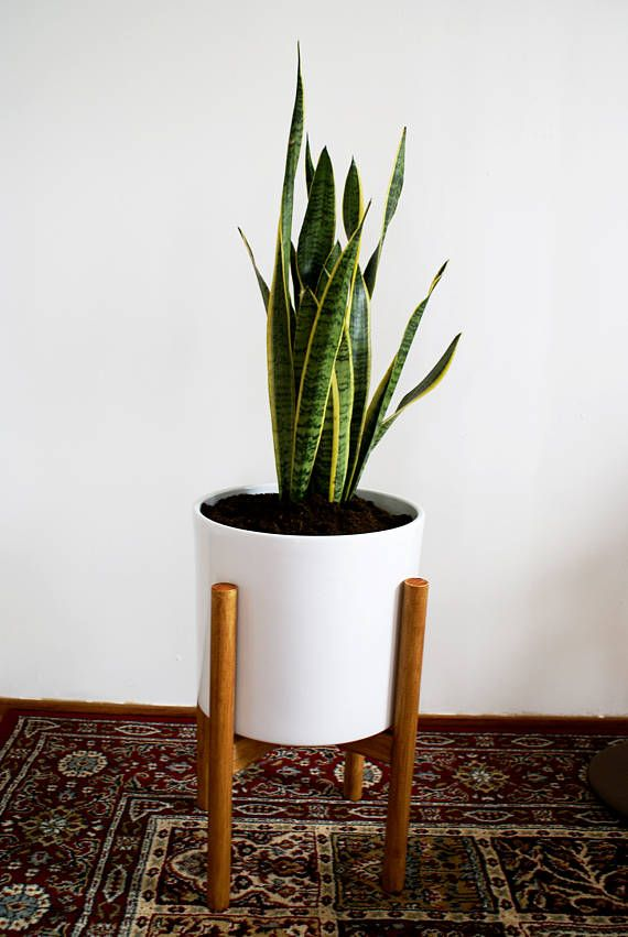 Cool Mid Century Plant Stand Including Pot So Eh A Mid