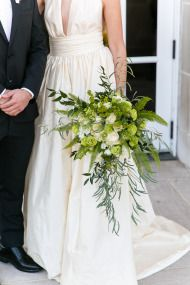 Elegant Emerald + Gold Wedding Inspiration - Style Me Pretty