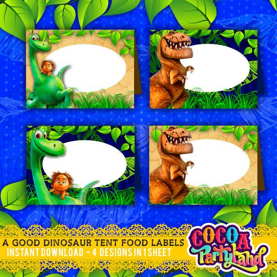 A Good Dinosaur Printable Food Tent Labels 4 designs INSTANT